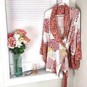 Anthropologie Floreat Patchwork Effie Kimono